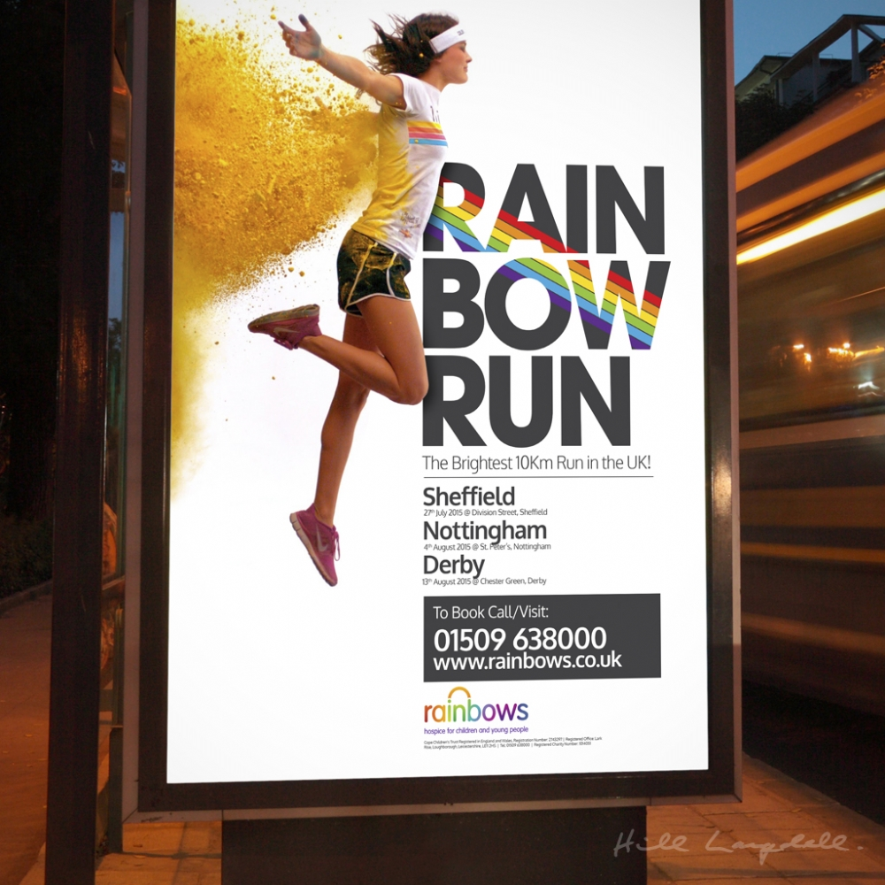 Poster design for Rainbows Hospice