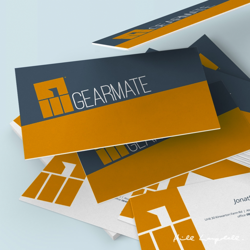 Gearmate stationery design